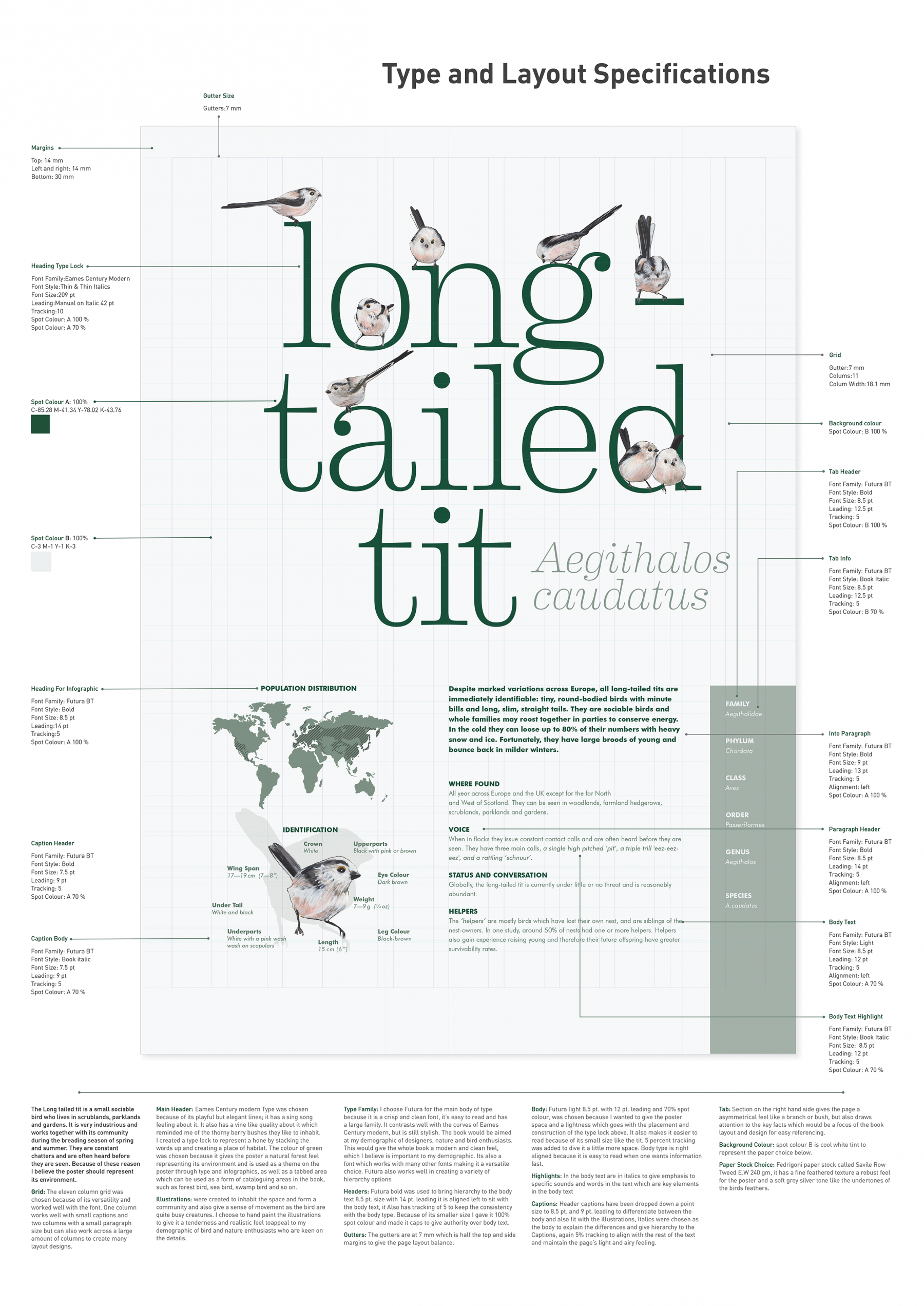 Long-tailed tit poster - MR AGOSTINO